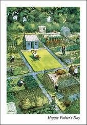 Punch Allotments Father's Day Greeting Card