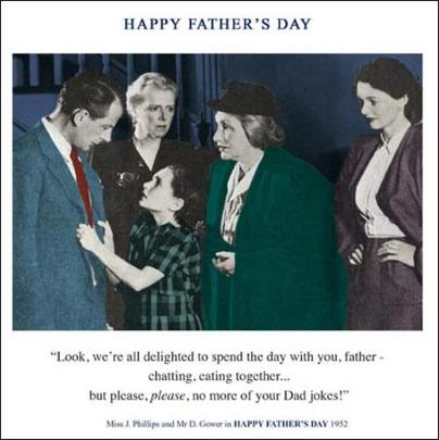Funny No More Dad Jokes Father's Day Greeting Card