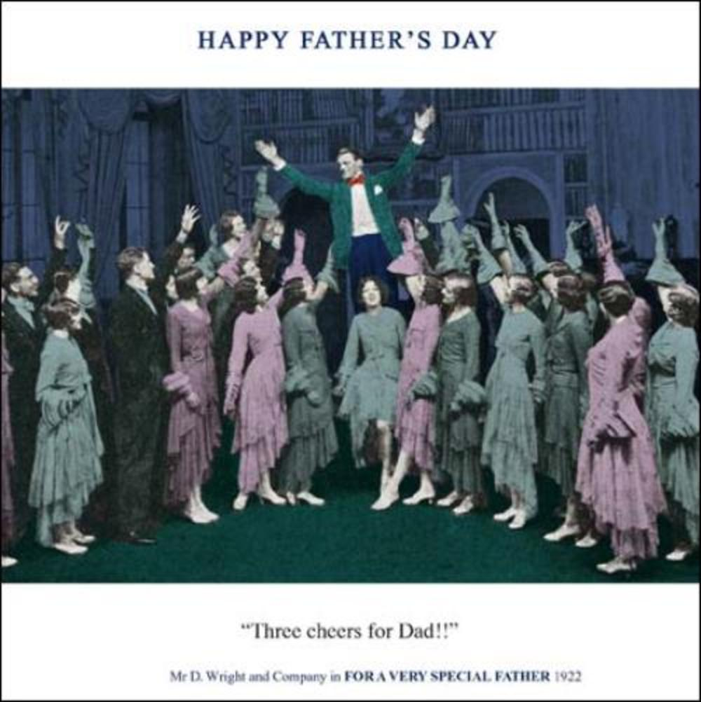Funny Three Cheers Dad Father's Day Greeting Card