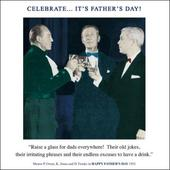 Funny Raise A Glass To Dads Father's Day Greeting Card