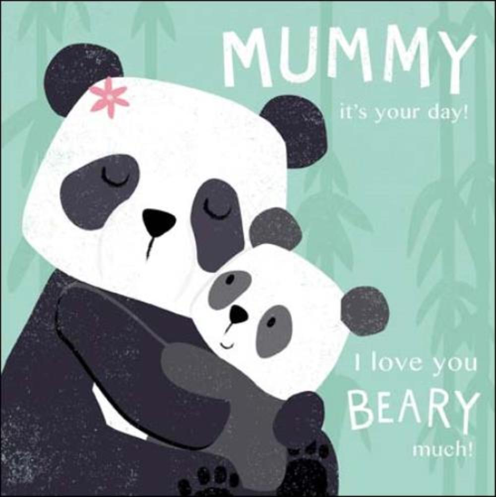 Cute Mummy Panda Bears Happy Mother's Day
