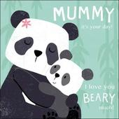 Cute Mummy Panda Bears Happy Mother's Day