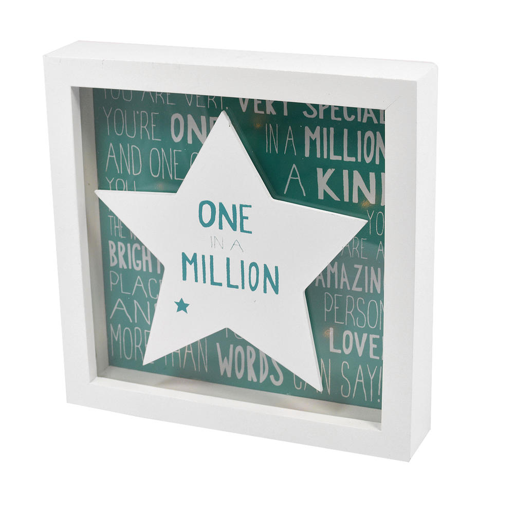 Message Of Love One In A Million Light Up Box Frame
