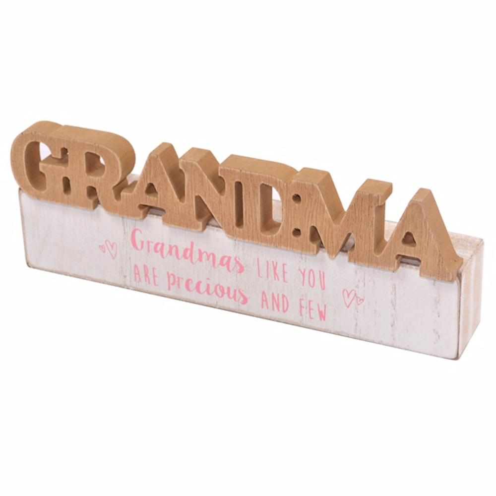 Grandma Sentiments From The Heart Word Block Plaque