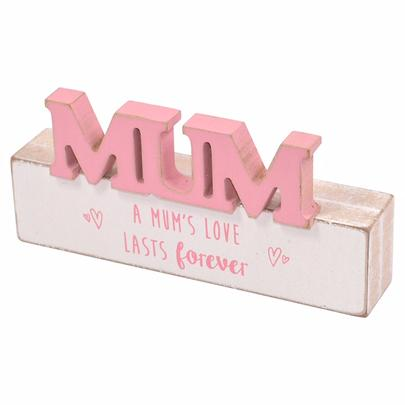 A Mum's Love Sentiments From The Heart Word Block Plaque