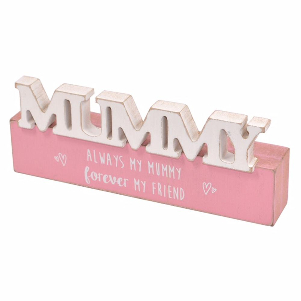 My Mummy Sentiments From The Heart Word Block Plaque