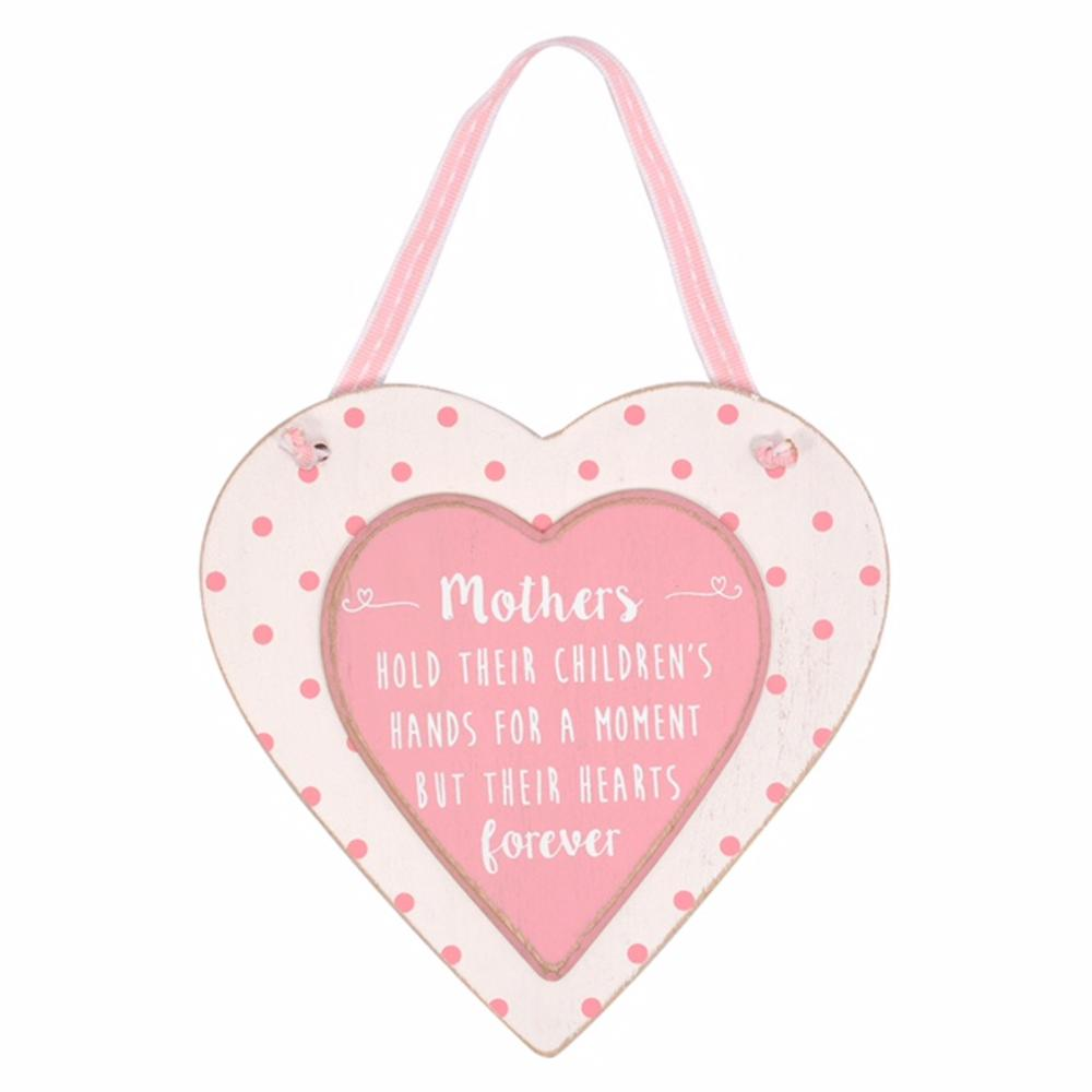 Mothers Love Sentiments From The Heart Wooden Hanging Plaque