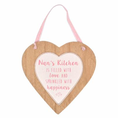 Nan's Kitchen Sentiments From The Heart Wooden Hanging Plaque