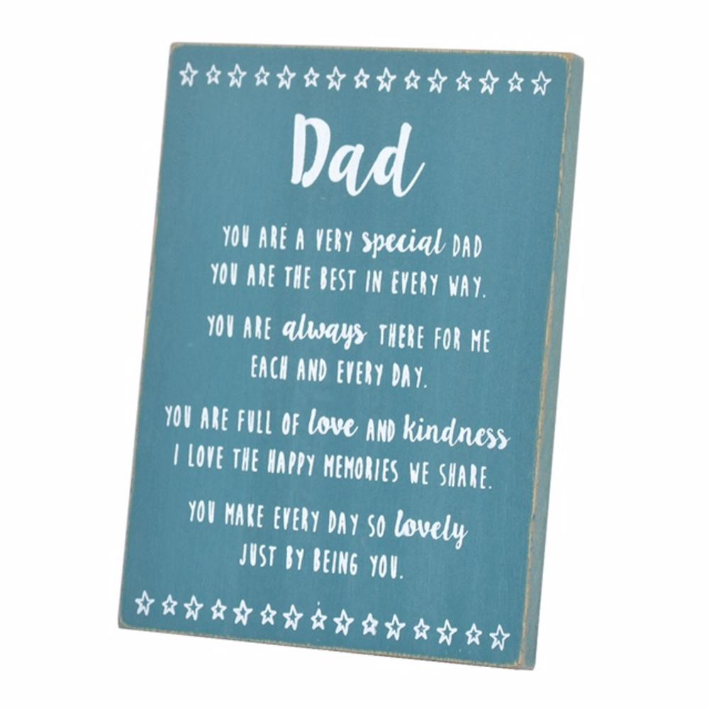 Special Dad Sentiments From The Heart Freestanding Wooden Plaque