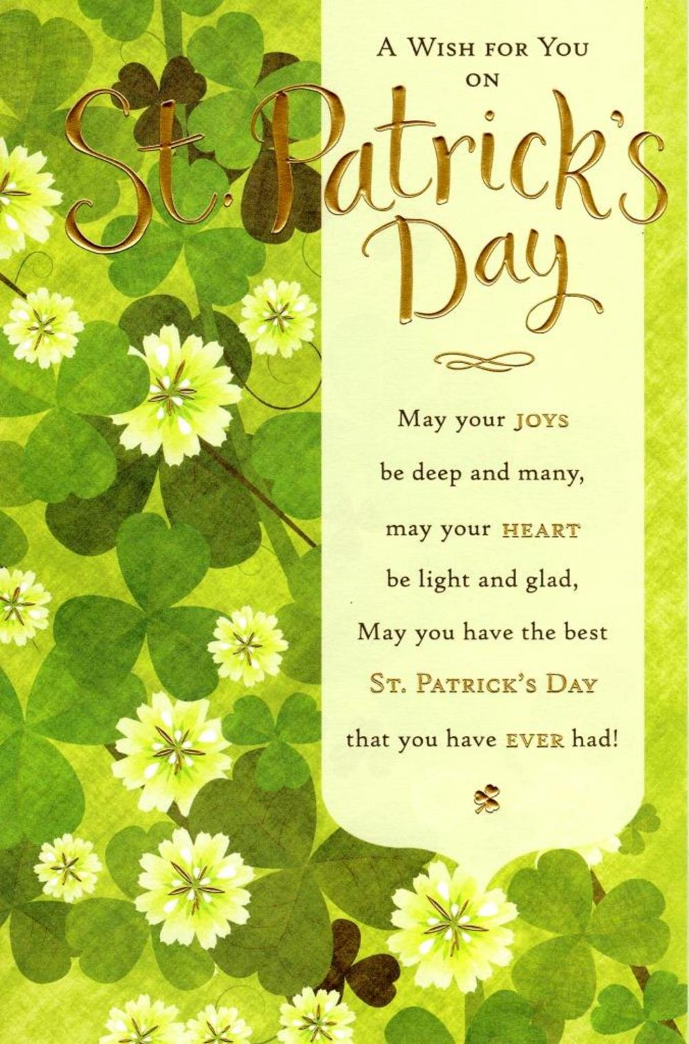 A St Patrick's Day Wish Greeting Card