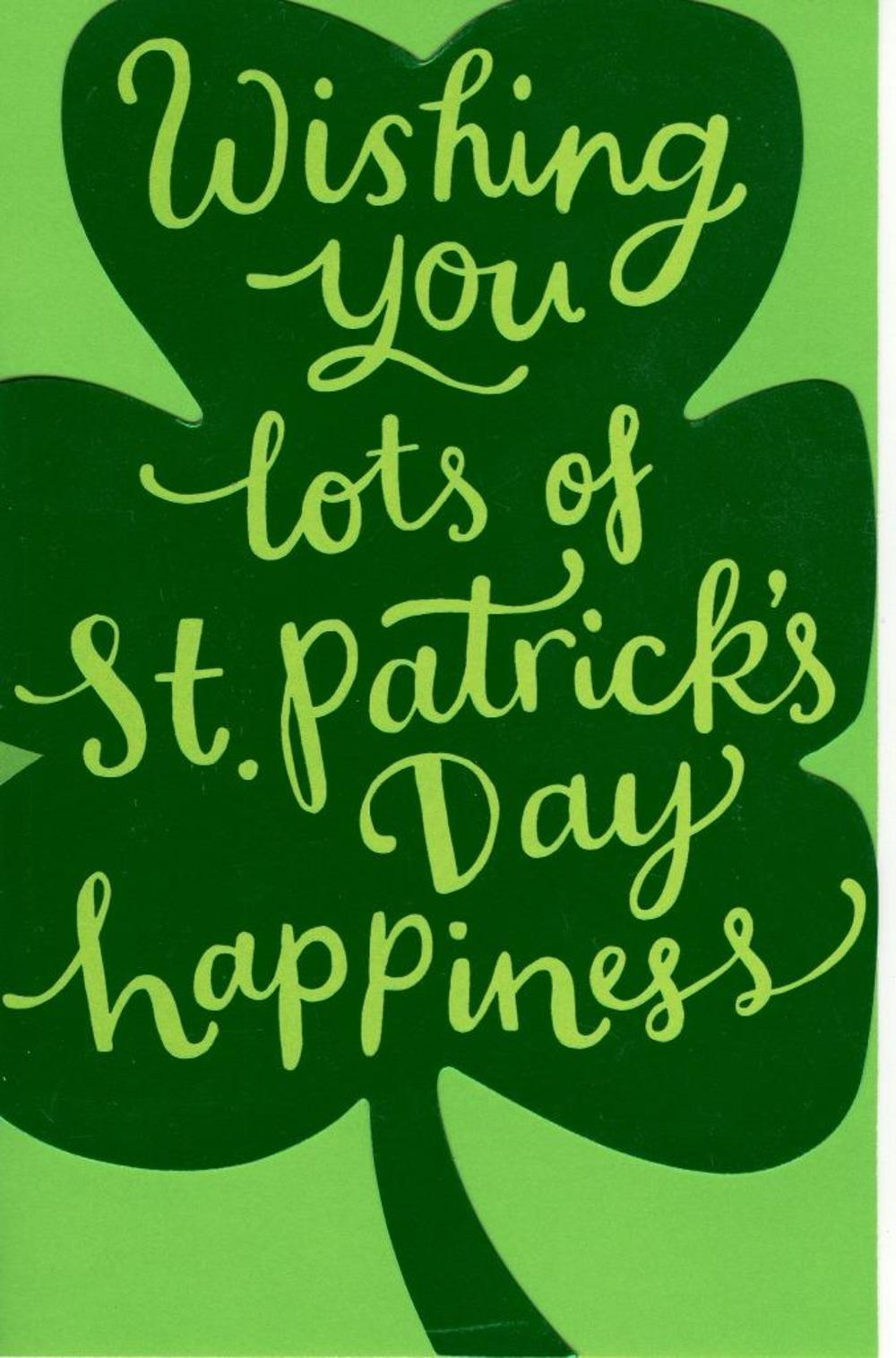 St Patrick's Day Shamrock Greeting Card