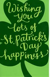 St Patrick's Day Shamrock Greeting Card