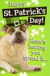 Funny Happy St Patrick's Day Greeting Card