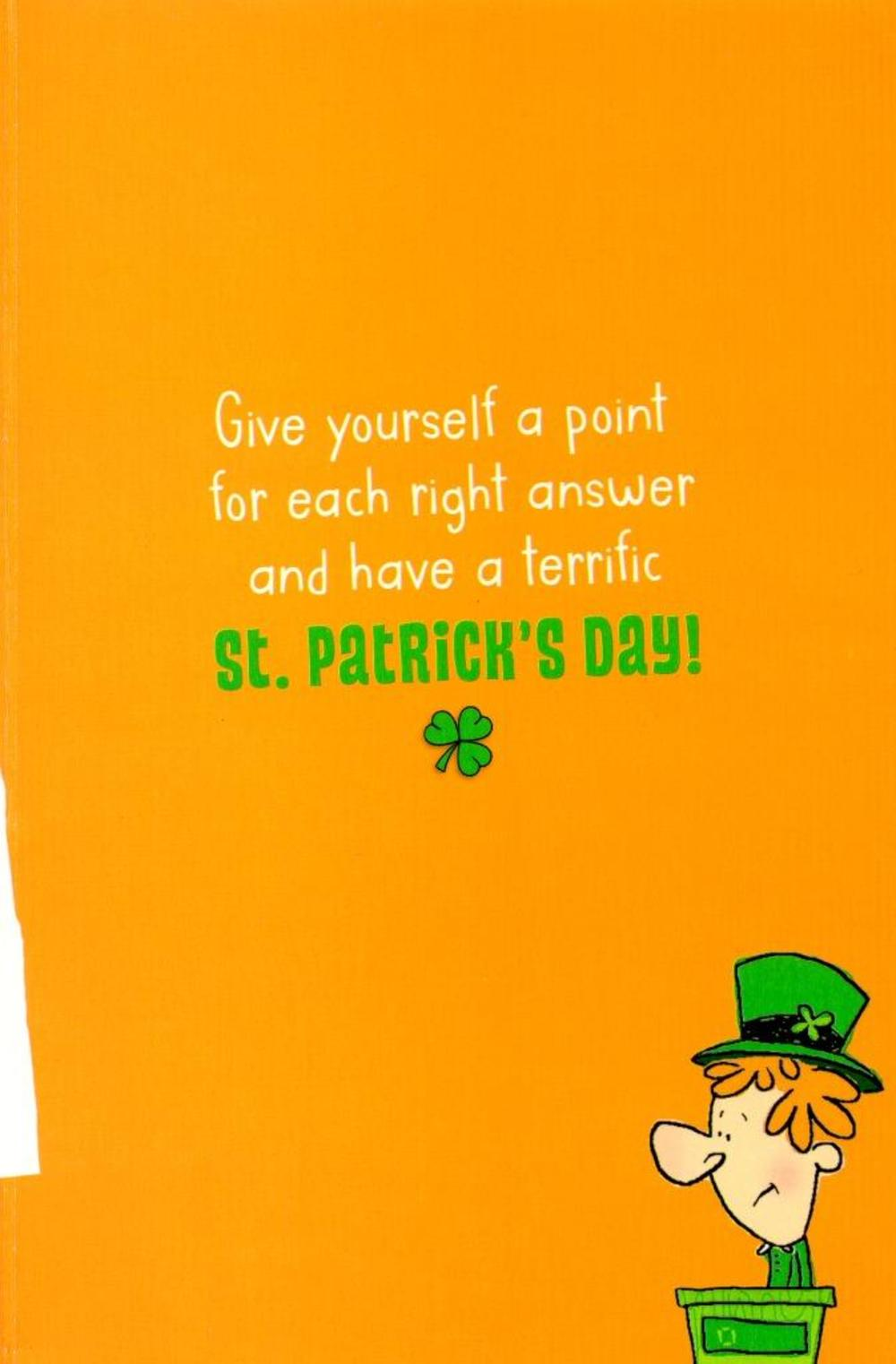 Funny St Patrick S Day Iq Test Greeting Card Cards
