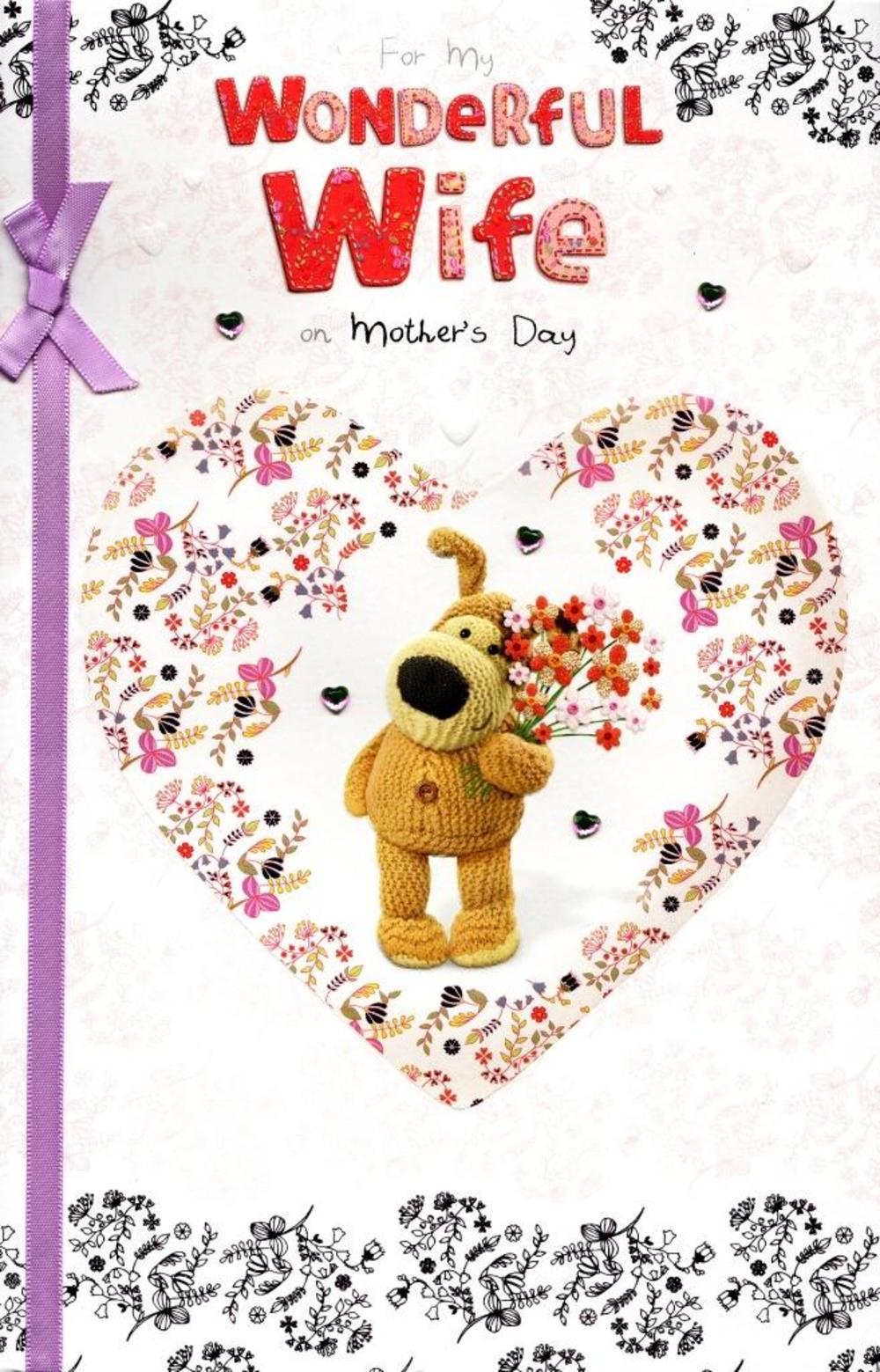 Boofle To My Wife On Mother's Day Card
