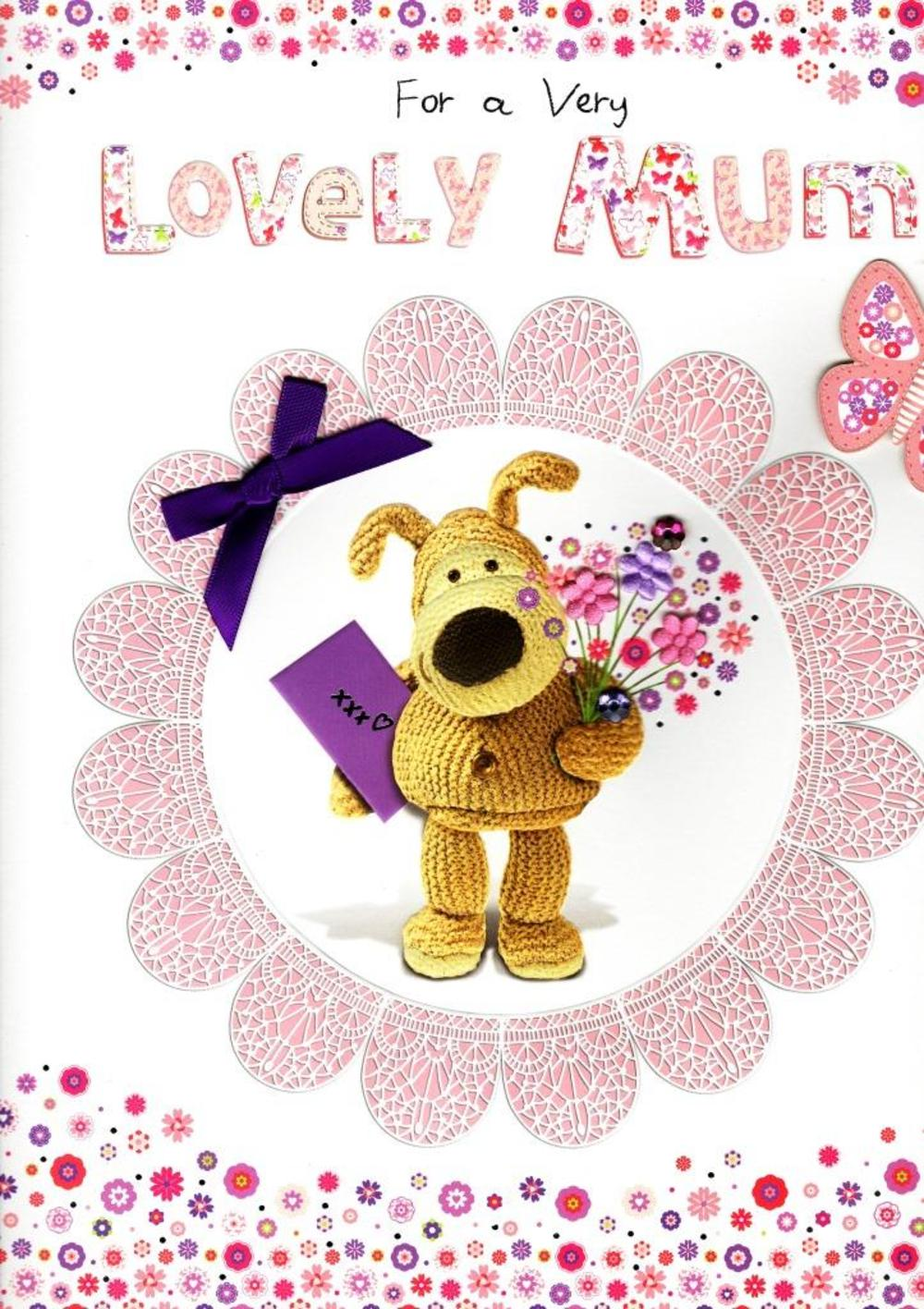Boofle Boxed Lovely Mum Happy Mother's Day Card