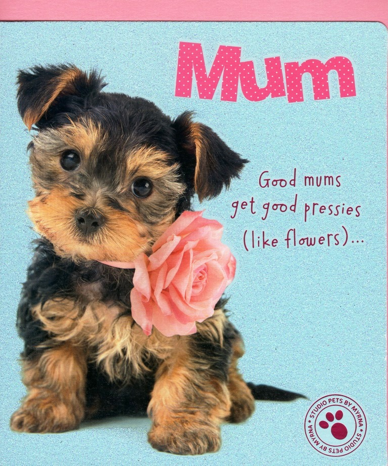 Cute Puppy Mum From Both Of Us Mother/'s Day Card Talk To The Paw Cards