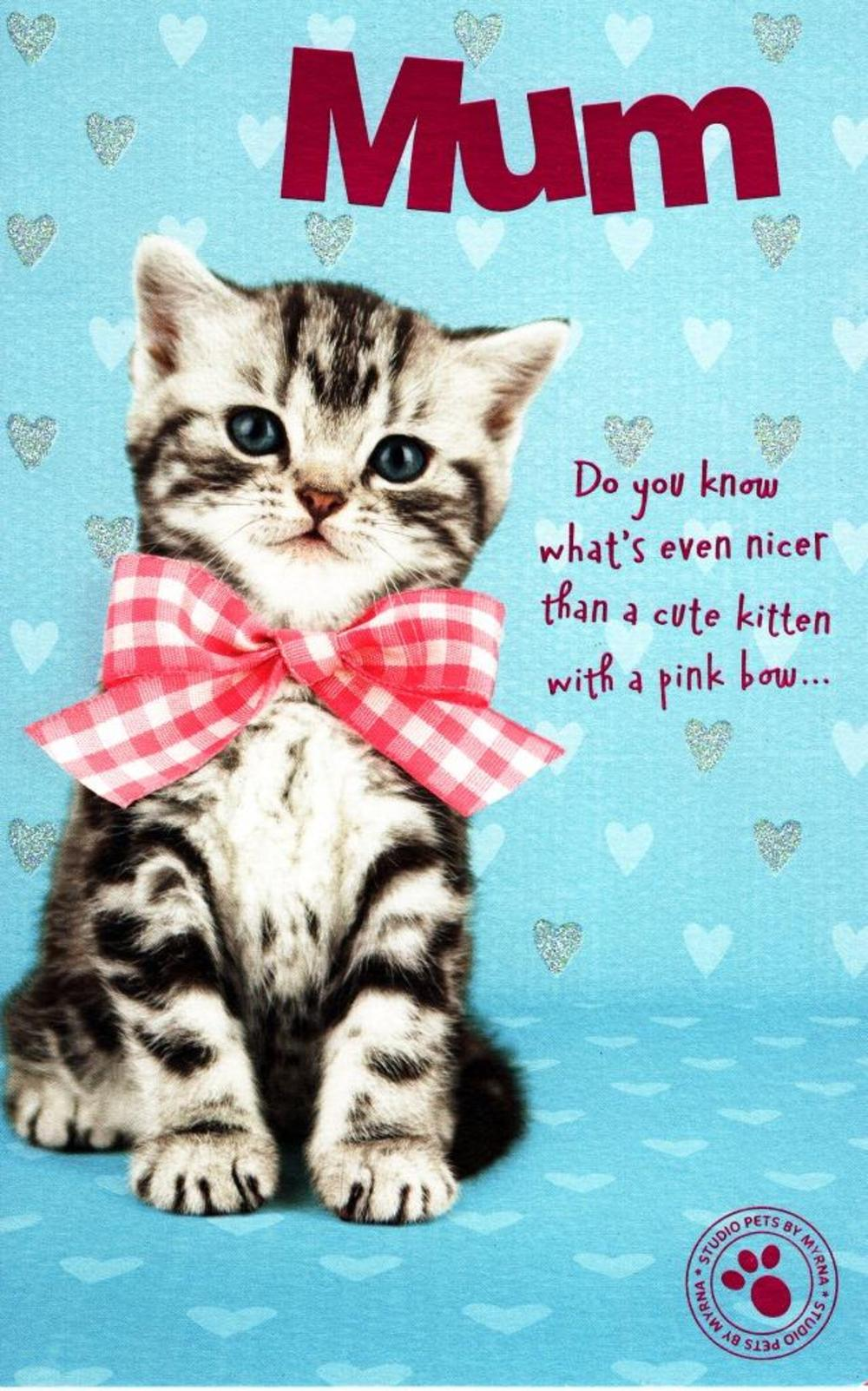 Cute Kitten Mum Happy Mother's Day Card