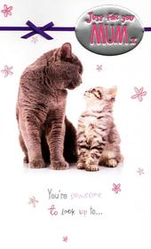 Cat & Kitten Mum Happy Mother's Day Card