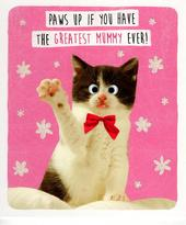 Cute Cat Greatest Mummy Mother's Day Card