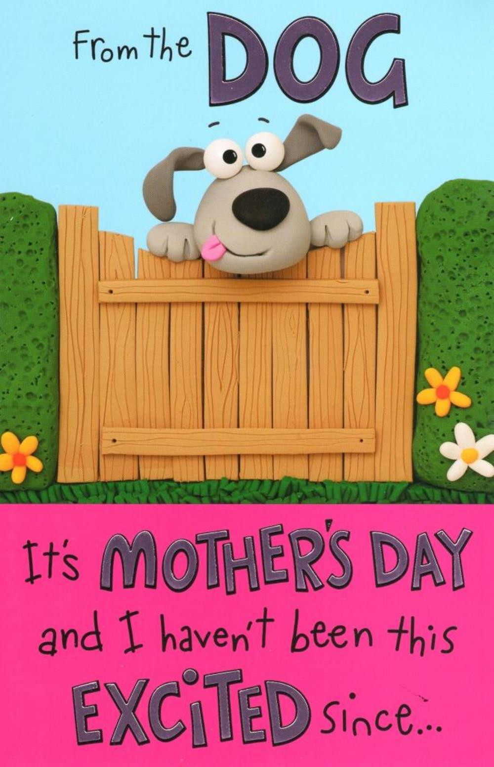 To Mum From The Dog Happy Mother's Day Card