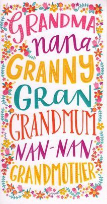 Grandmother Gran Nan Happy Mother's Day Card