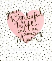 Wonderful Wife Amazing Mum Happy Mother's Day Card