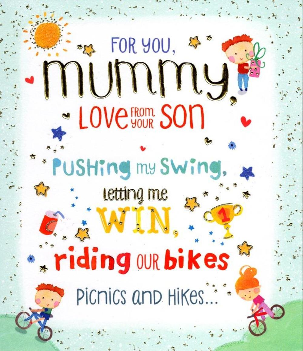 To mummy from your son happy mothers day card cards love kates to mummy from your son happy mothers day card m4hsunfo