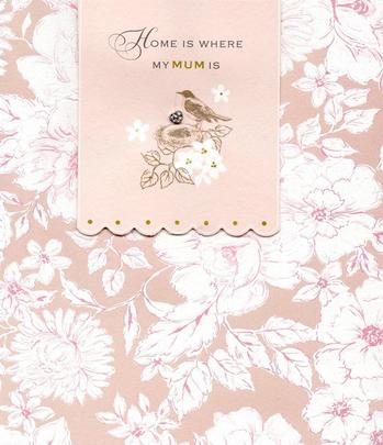 Home Is Where My Mum Is Happy Mother's Day Card