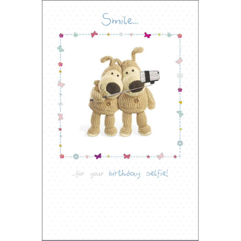 Boofle Smile Birthday Selfie Greeting Card