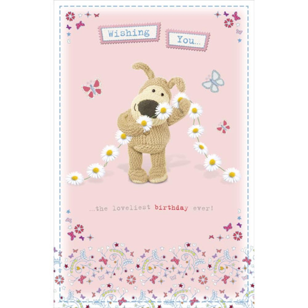 Boofle Daisy Chain Happy Birthday Greeting Card