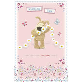 Boofle Daisy Chain Happy Birthday Greeting Card
