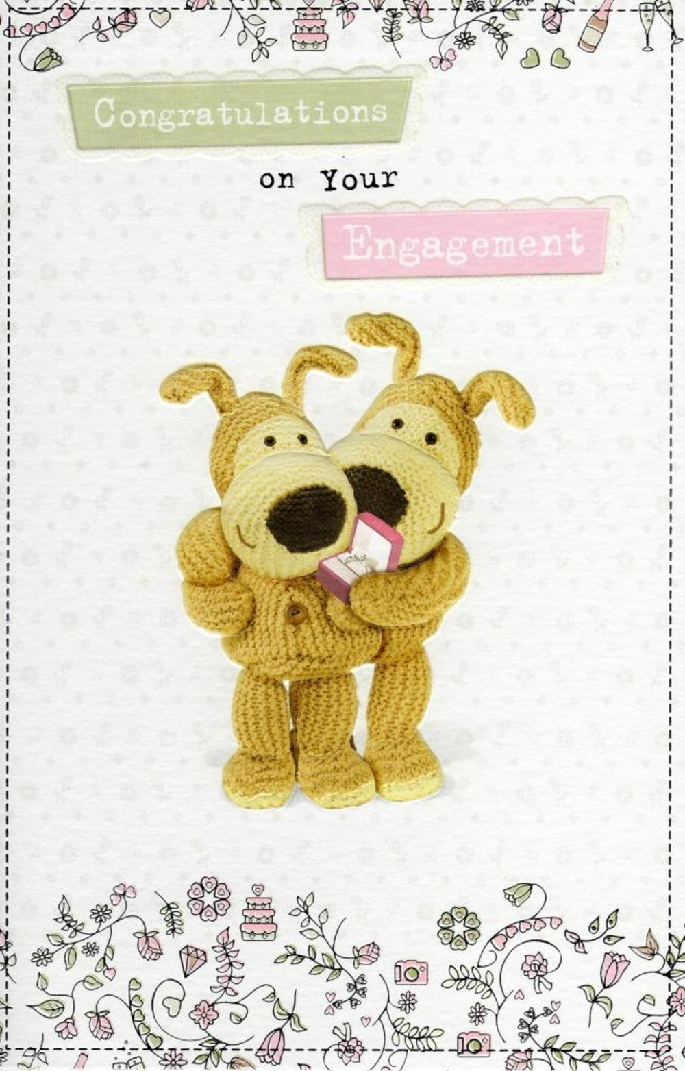 Boofle Congratulations On Your Engagement Card