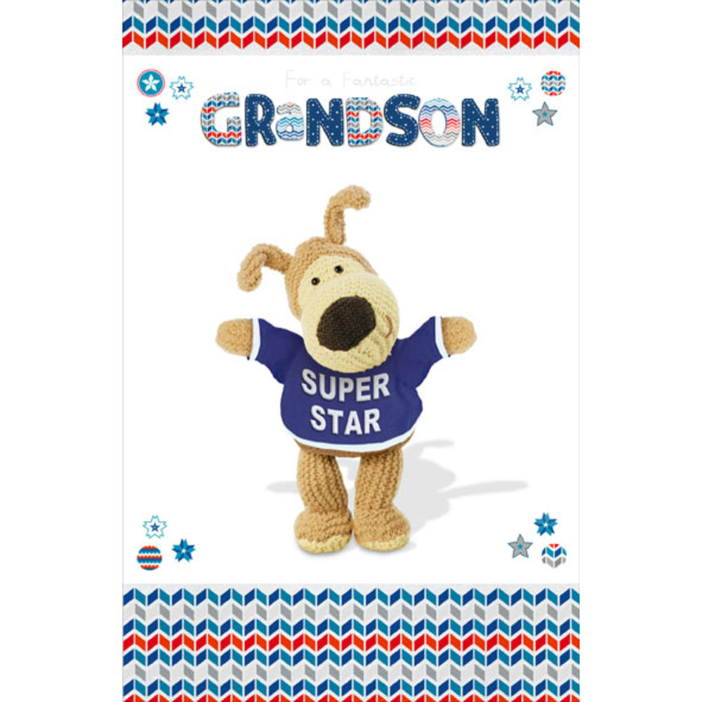 Boofle Grandson Happy Birthday Greeting Card
