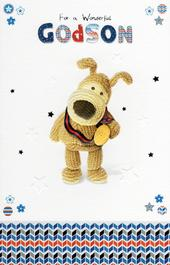 Boofle Godson Happy Birthday Greeting Card