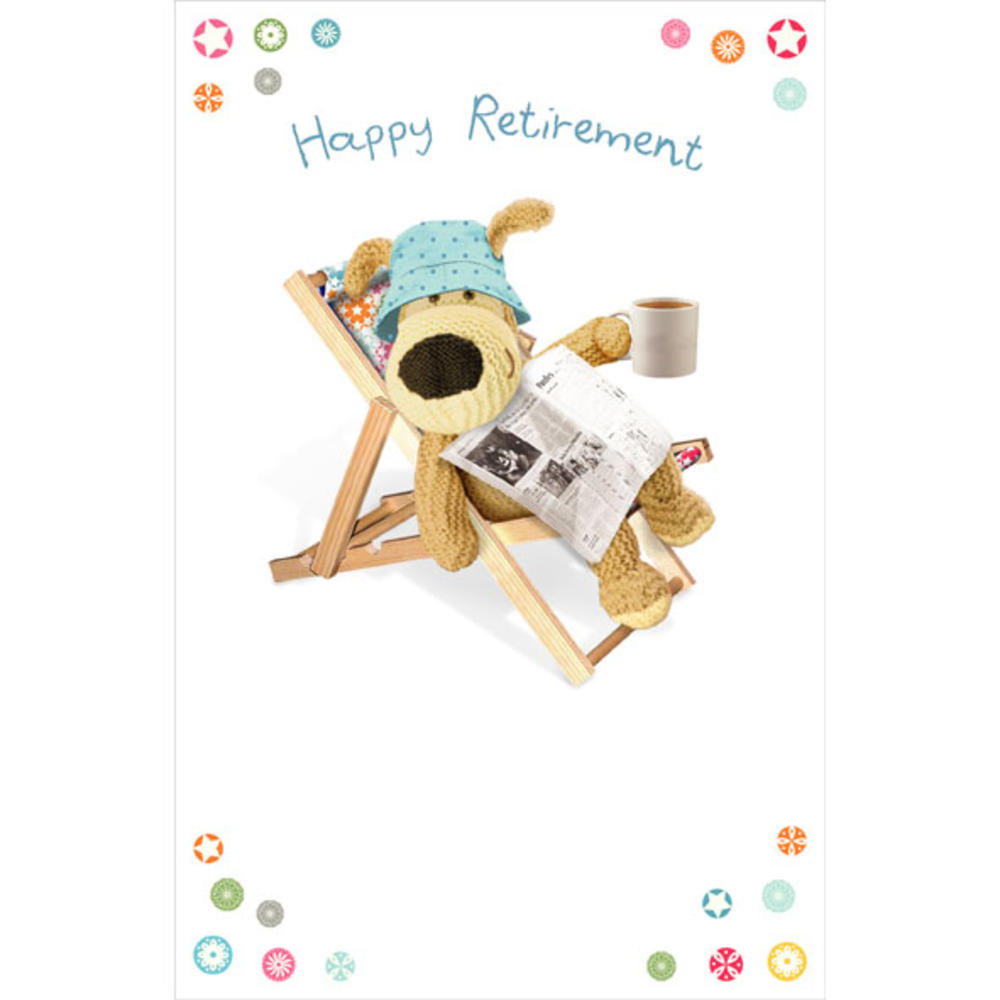 Boofle Happy Retirement Greeting Card