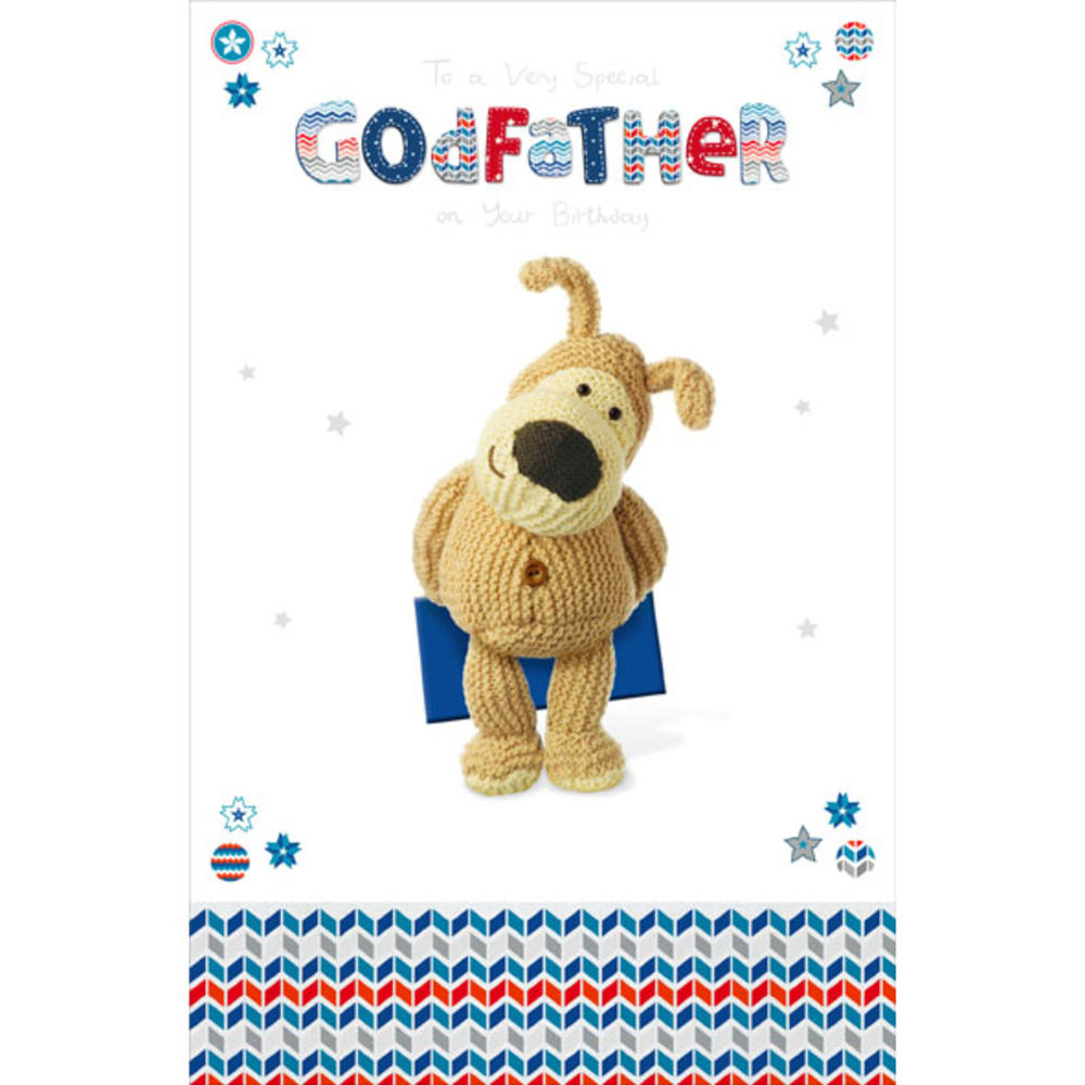 Boofle Godfather Happy Birthday Greeting Card