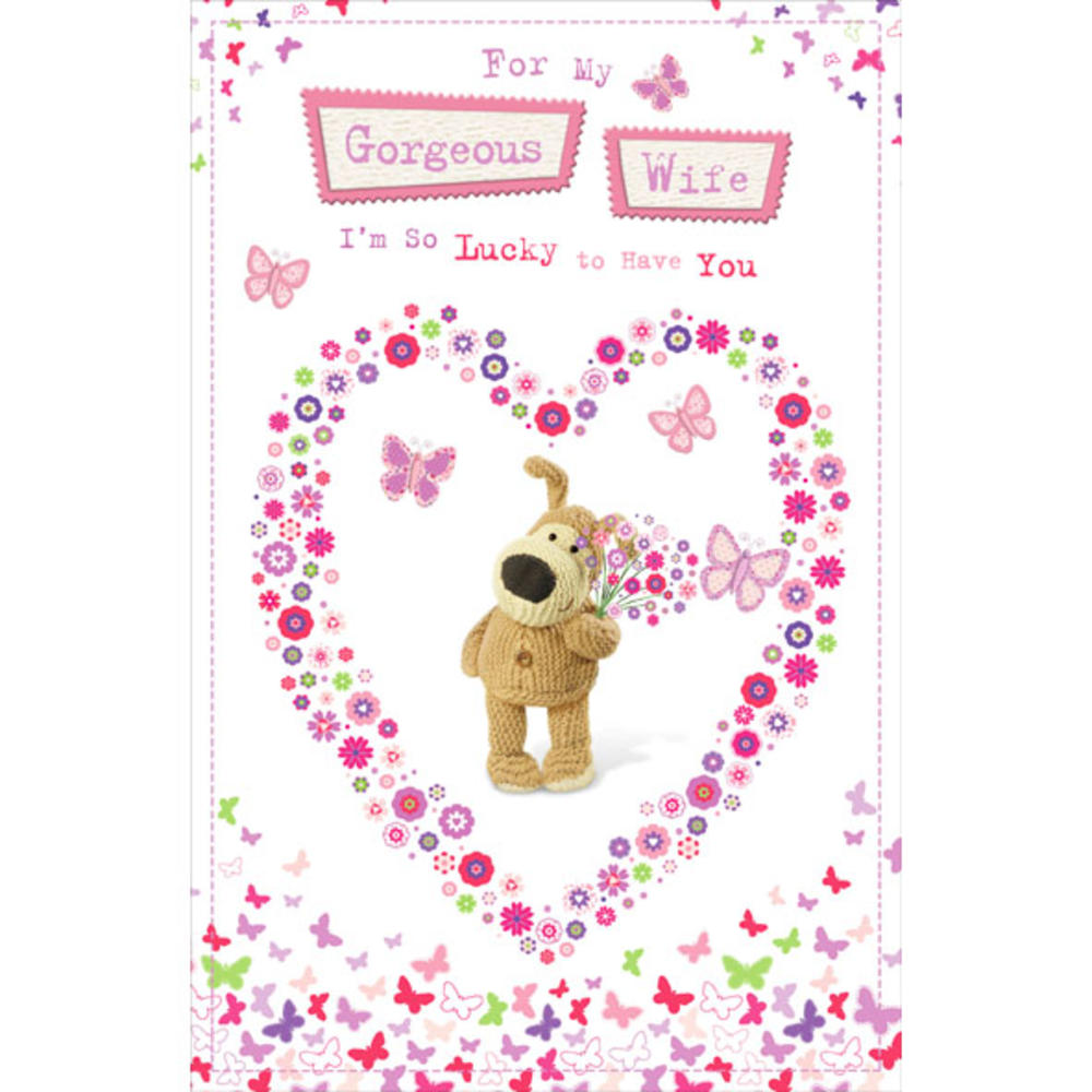 Boofle Gorgeous Wife Happy Birthday Greeting Card