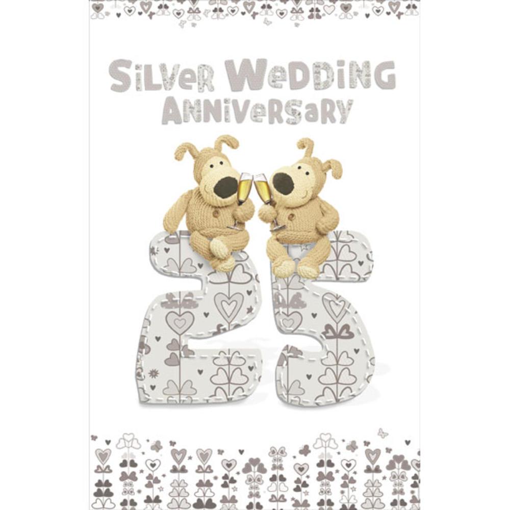 Boofle 25th Silver Wedding Anniversary Card