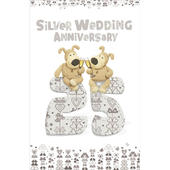 Boofle 25th Silver Wedding Anniversary Card