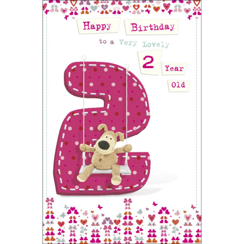 Boofle 2nd Happy Birthday Greeting Card