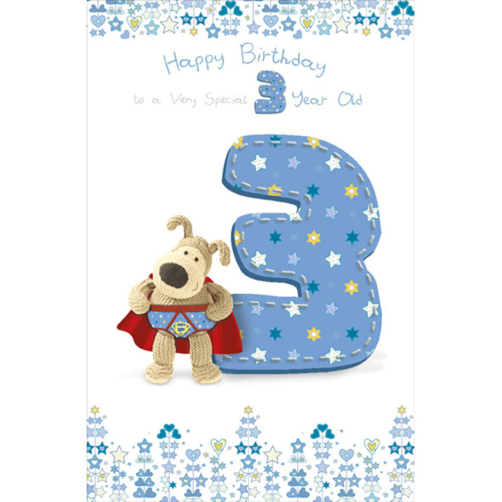 Boofle 3rd Happy Birthday Greeting Card