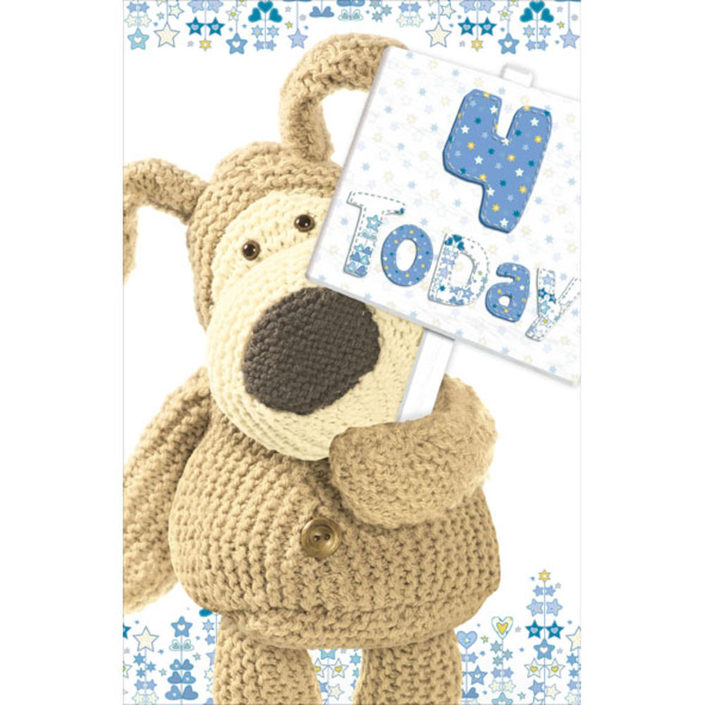 Boofle 4th Happy Birthday Greeting Card