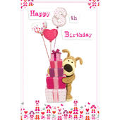 Boofle 8th Happy Birthday Greeting Card