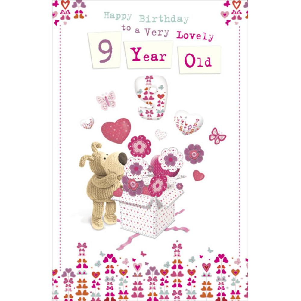 Boofle 9th Happy Birthday Greeting Card