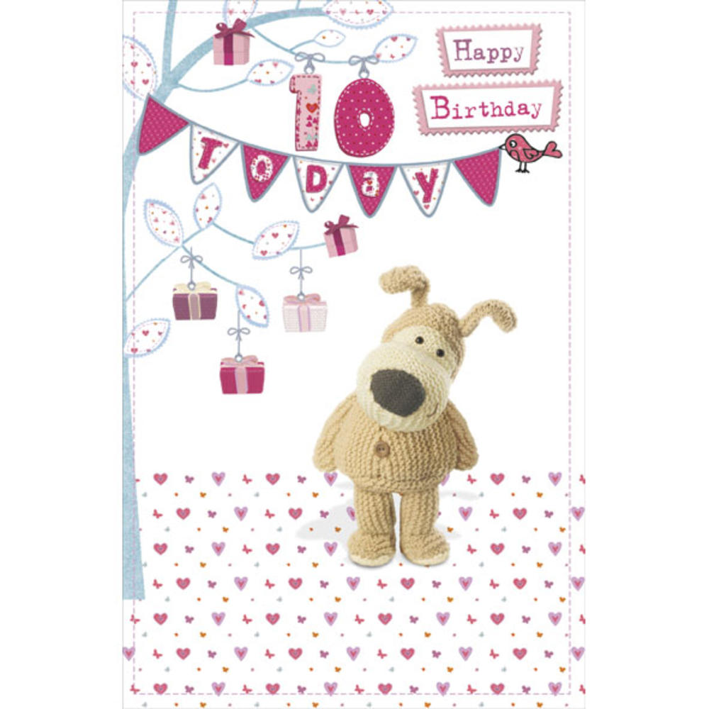 Boofle 10th Happy Birthday Greeting Card