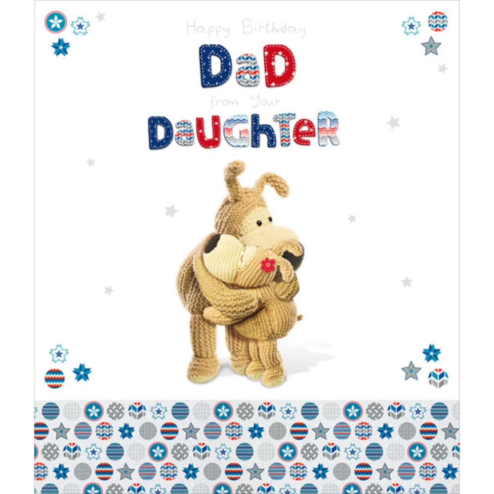 Boofle Dad From Daughter Birthday Greeting Card