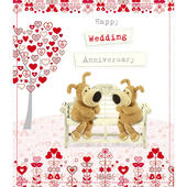 Boofle Happy Wedding Anniversary Greeting Card