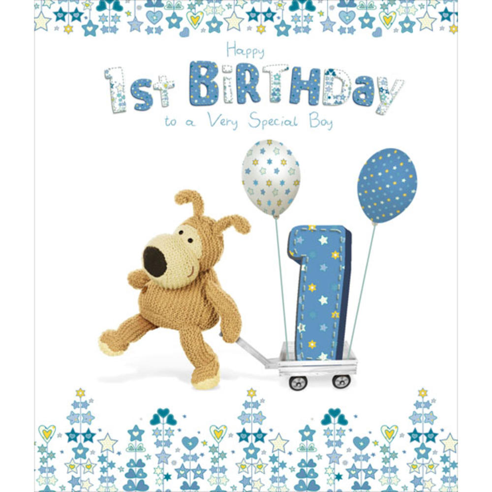 Boofle Happy 1st Birthday Greeting Card Cute Cards