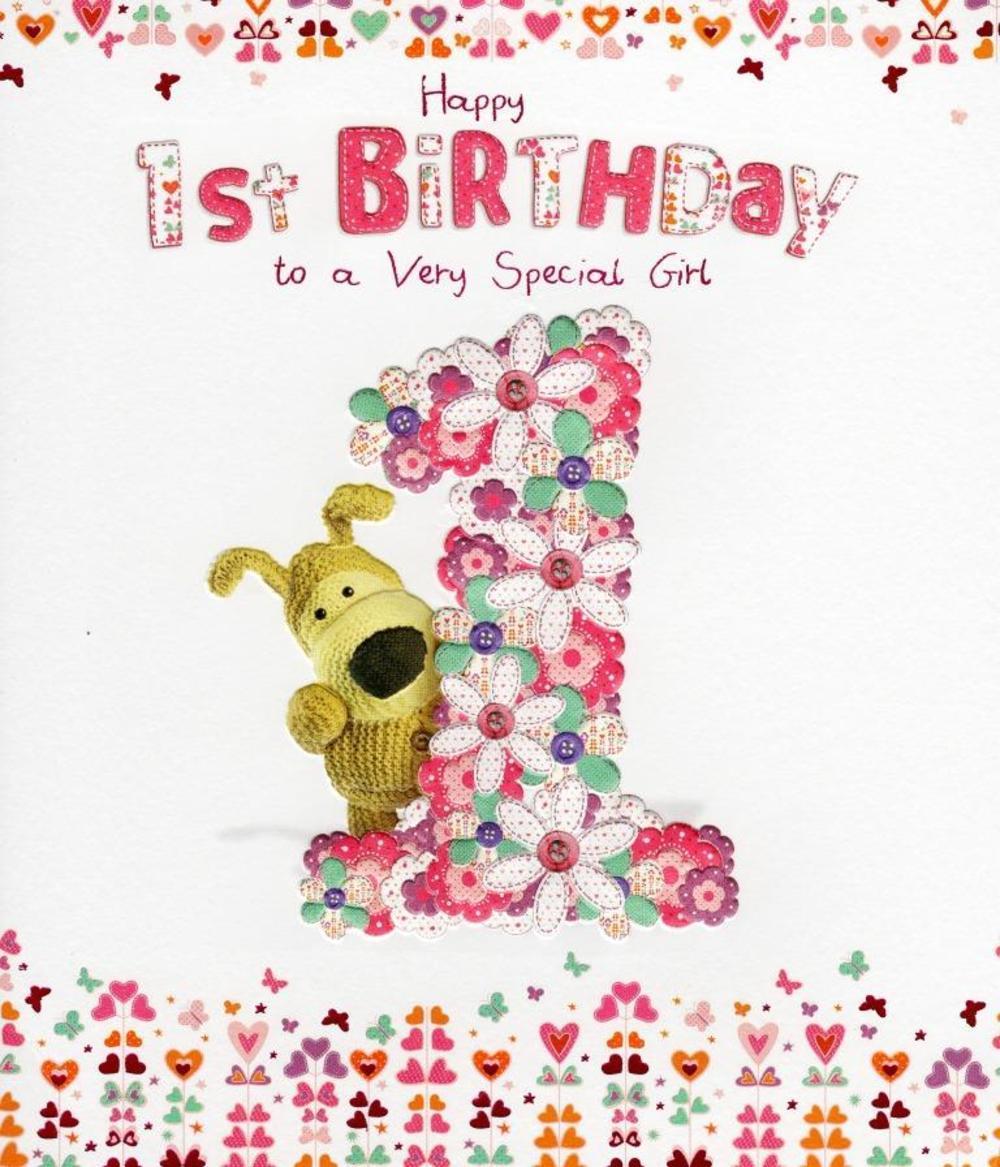 Boofle Happy 1st Birthday Greeting Card